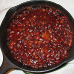 A simmer of beans in the kitchen at Bar JD