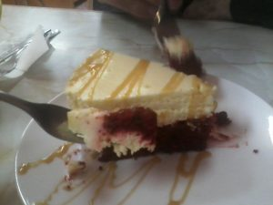 Red Velvet Cheesecake at Uncle Roosters